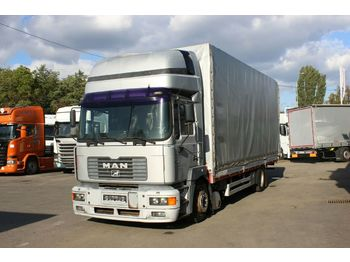 Curtainsider truck MAN 19.314 FLLC, SLEEPING BODY