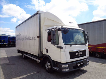 MAN 8.150 Pritsche/Plane,6500mm, 2012  - curtainsider truck