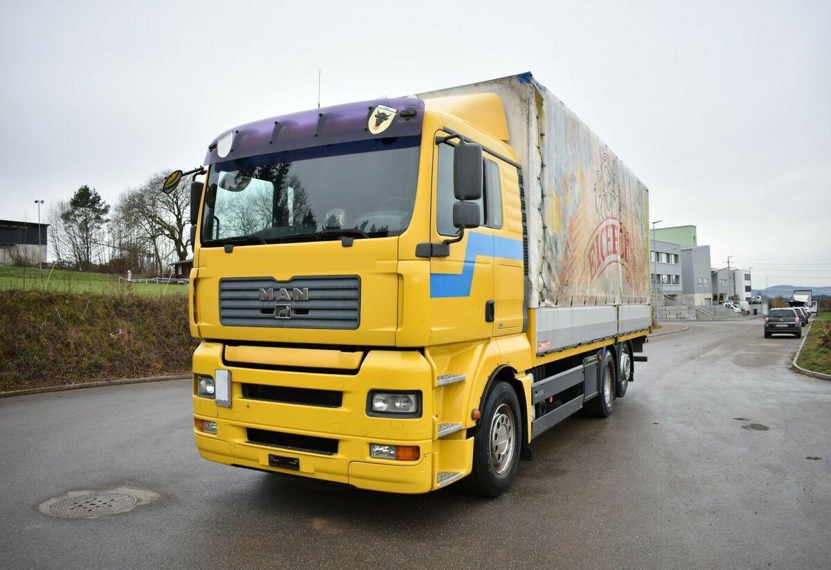 Man Tga 26 430 6x2 4 Blache Mit Hebeb U00fchne Curtainsider Truck From Switzerland For Sale At Truck1