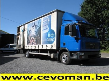 Curtainsider truck MAN TGL 12.210