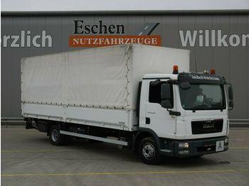 Curtainsider truck MAN TGL 12.220 4x2, LBW, Bl/Lu, AHK ! 170 Tsd. Km !