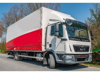 Curtainsider truck MAN TGL 12.220 Euro6 Pritsche Plane Bär Ladebordwand 1000kg