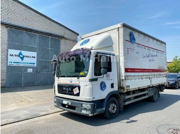 Curtainsider truck MAN TGL 12.220 Plane/Spriegel L 5,40 m Luft / Manual