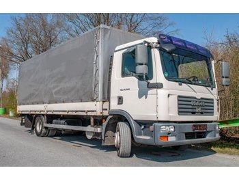 Curtainsider truck MAN TGL  12.240 4x2 BL Pritsche Plane m. Ladegerät Dautel 1500kg
