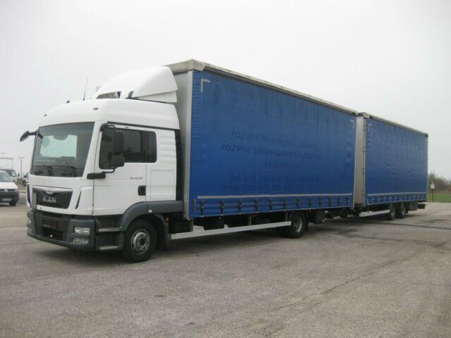 curtainsider truck MAN - TGL 12.250 BL 120 m3 Durchladezug