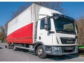 Curtainsider truck MAN TGL 8.180 4x2 7,1m Plane/Spriegel LBW