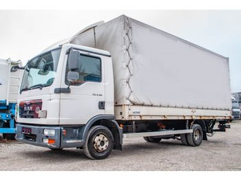 Curtainsider truck MAN TGL 8.180 4x2 BL Pritsche Hollandia 1000kg