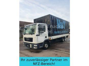 Curtainsider truck MAN TGL 8.180 Pritsche/ Plane Klima LBW Euro5