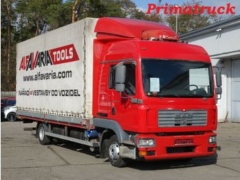 Curtainsider truck MAN TGL 8.210 Analog Tacho