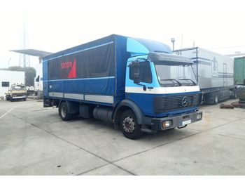 MERCEDES-BENZ 1422 left hand drive 14 ton OM441 V6 engine - curtainsider truck