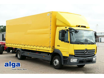Curtainsider truck Mercedes-Benz 1218 l Atego, 8,1 m. lang, Euro 6, LBW, AHK!