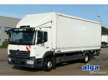 Curtainsider truck Mercedes-Benz 1224 L Atego, Schiebeplane, LBW 1,5to., Euro 6: picture 1