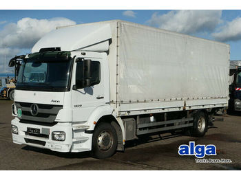 Curtainsider truck Mercedes-Benz 1829 L Axor, LBW 1,5to., 7.200mm lang, AHK,Klima