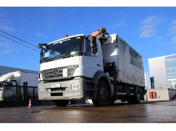 Curtainsider truck Mercedes-Benz AXOR 1829 + PALFINGER PK 12002 3XHYDR.+REMOTE C