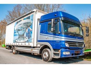 Curtainsider truck Mercedes-Benz Atego 1222 alter Tacho Pritsche Plane EURO5