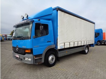 Curtainsider truck Mercedes-Benz Atego 1223 + manual + euro 2 + lift