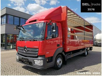 الخيمة شاحنة Mercedes-Benz Atego 818 / Ladebordwand / German