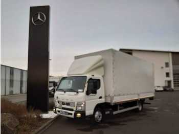 Mitsubishi FUSO Canter 7C18 Pritsche/Plane + LBW  - curtainsider truck