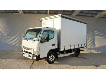 Mitsubishi Fuso Canter 7C15 pritsche 3,7m / zwilling  - curtainsider truck