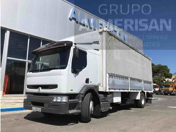RENAULT 260.18. CAJA SEMITAUTLINER. COLOR BLANCO - curtainsider truck