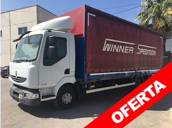 Curtainsider truck RENAULT MIDLUM 220 . 12 EXTRA LIGHT