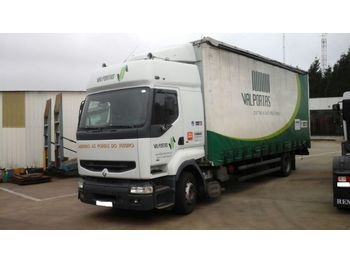Curtainsider truck RENAULT Premium 385 left hand drive 18 ton hub reduction axles