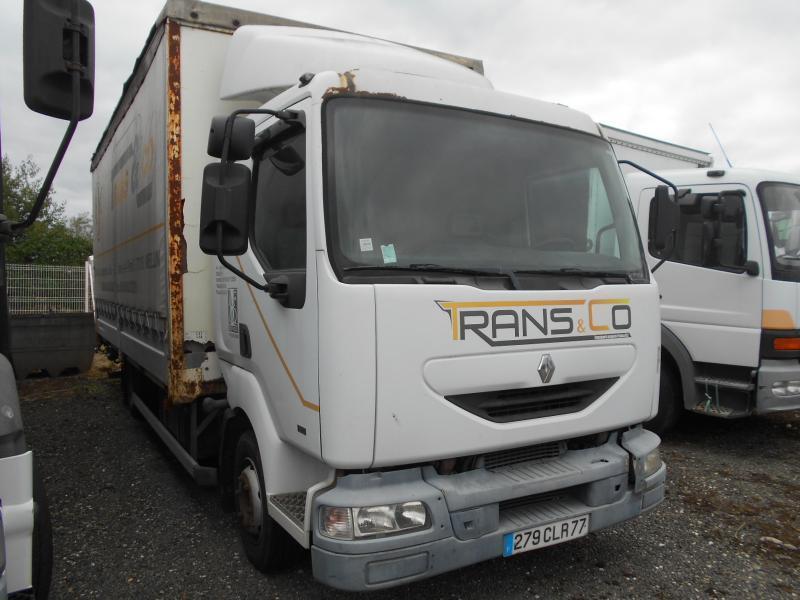 curtainsider truck Renault Midlum 180