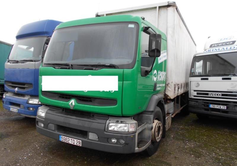 curtainsider truck Renault Premium 250