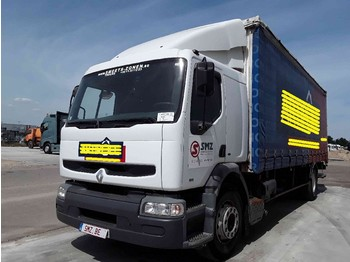 Curtainsider truck Renault Premium 250 manual pump