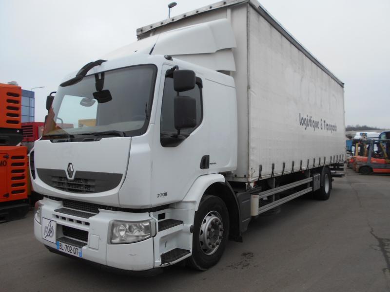 curtainsider truck Renault Premium 270 DXI