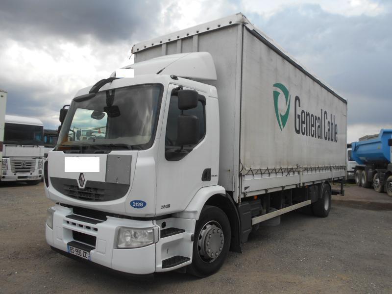 curtainsider truck Renault Premium 280 DXI