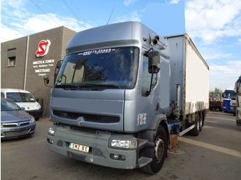 Curtainsider truck Renault Premium 300 manual pump