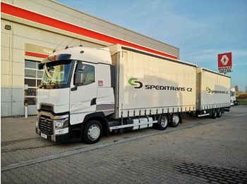 Renault T HIGH 520 P6X2 LOW + Panav TV018M  - curtainsider truck
