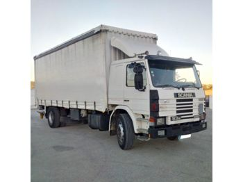 241edc553d Curtainsider truck SCANIA 93M 250 left hand drive Turbo Intercooler 19 Ton tail  lift