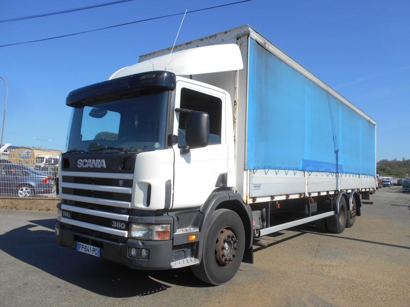 curtainsider truck Scania 114L 380 380