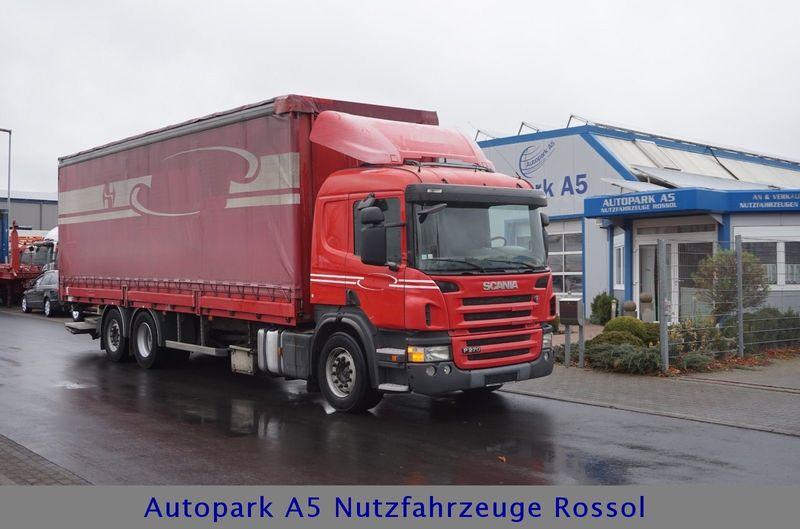 b8fa9d4d63 Curtainsider truck Scania P270 Pritsche + Plane Klima Tempomat Euro 4