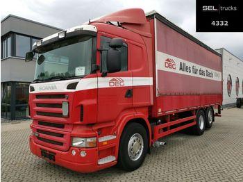 Curtainsider truck Scania R340 LB6X2*4MNA /Lenkachse /Ladebordw. /Retarder