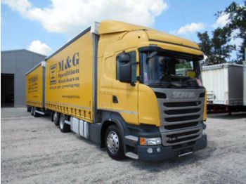 Scania R410 HIGHLINE, Streamline, EURO6, JUMBO ZUG 120m  - curtainsider truck