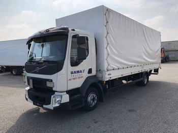Curtainsider truck Volvo FL 210 Plane, Manual, E6, Ladebordwand