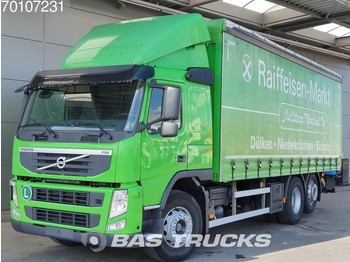 Curtainsider truck Volvo FM 410 6X2 VEB Steering-Axle EEV: picture 1