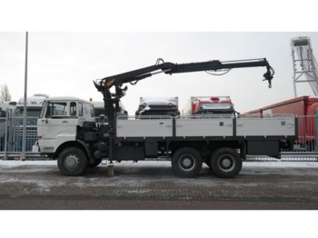 DAF 2300 6x6 OPEN BOX WITH HIAB CRANE - truck