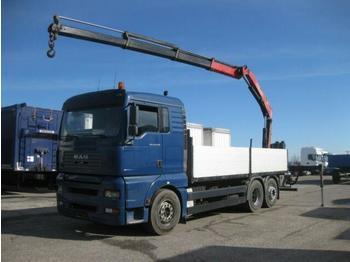 Dropside/ flatbed truck  MAN - TGA 26.430 LL FASSI F150A.23