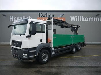 Dropside/ flatbed truck MAN TGS 26.320 6x4H BL, Atlas 210.2, Funk, Lift/Lenk