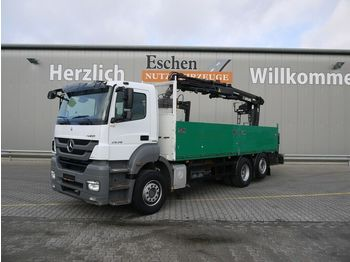 Dropside/ flatbed truck Mercedes-Benz 2536 L Axor 6x2, Atlas 165.2-A12, Lift/Lenk