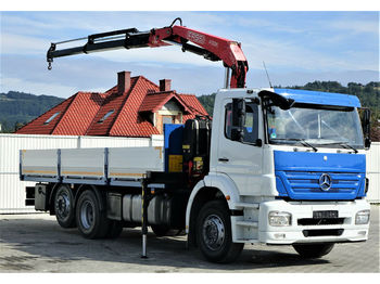Dropside/ flatbed truck Mercedes-Benz ACTROS Pritsche 6,50m + Kran Topzustand!