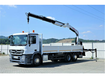 Dropside/ flatbed truck Mercedes-Benz Actros 2532 Pritsche 7,10m+ Kran/FUNK*6x2*: picture 1