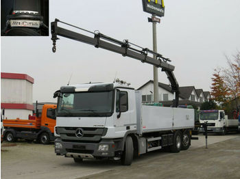 Dropside/ flatbed truck Mercedes-Benz Actros 2536 L 6x2 Pritsche Heckkran 4xhydr.+Funk