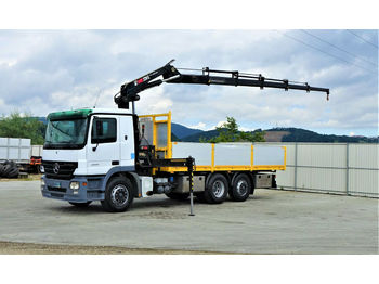 Dropside/ flatbed truck Mercedes-Benz Actros 2541 Pritsche 6,20m+ Kran/FUNK*6x2*: picture 1