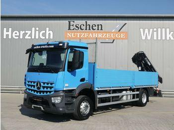 Dropside/ flatbed truck Mercedes-Benz Arocs 1830 L*HIAB 122 E-2 HIDUO*Funk*Klima*EUR6