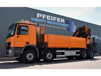 Dropside/ flatbed truck Palfinger PK85002 Mercedes Actros V8 4150, 8x4x4 Drive, 80t/